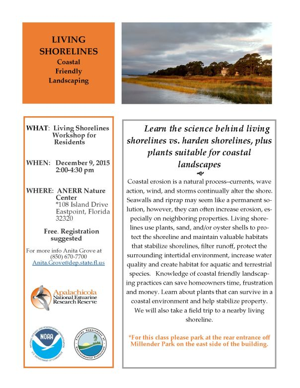 Living Shorelines residents flyer