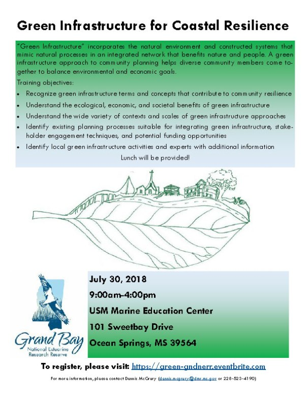 GI for Coastal Resilience July 2018